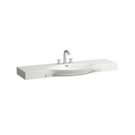 812706 - Laufen Palace 1500mm x 510mm Washbasin with Towel Rail - 8.1270.6